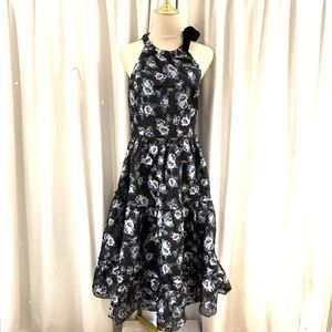 NWOT Kate Spade Prairie Rose Velvet Tie Dress